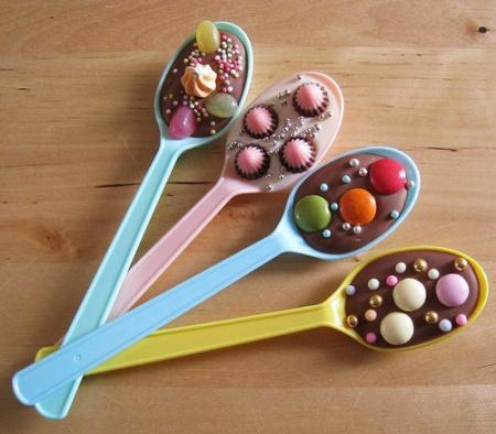 """Оригинальный десерт """"Ложка шоколада"""""""
