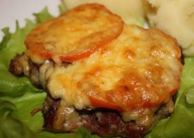 Мясо по-французски в духовке рецепт с помидорами и картошкой в духовке