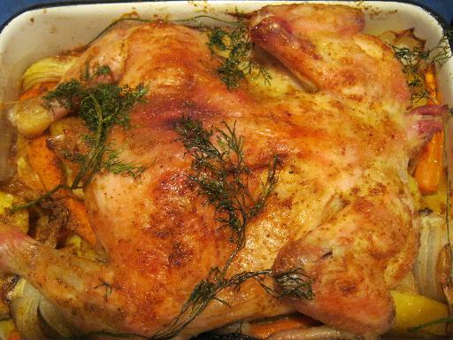 Курочка в духовке с картошкой фото рецепт