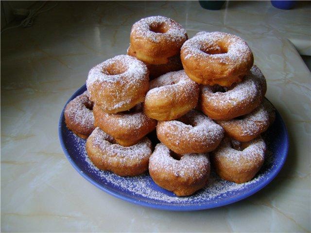 пончики без дрожжей рецепт фото
