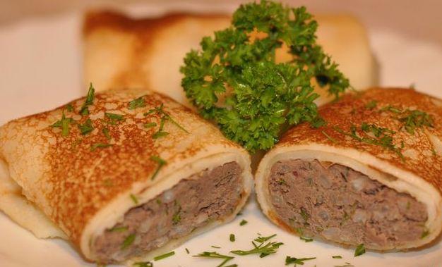 Начинка для блинов из мясаы