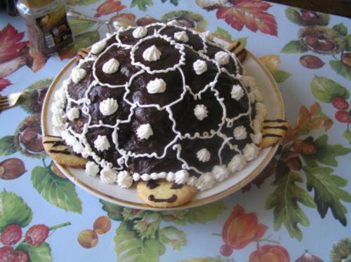 торт черепашка сметанный рецепт