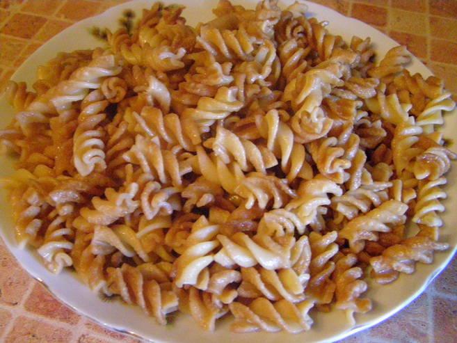 рецепт с фото жареных макарон