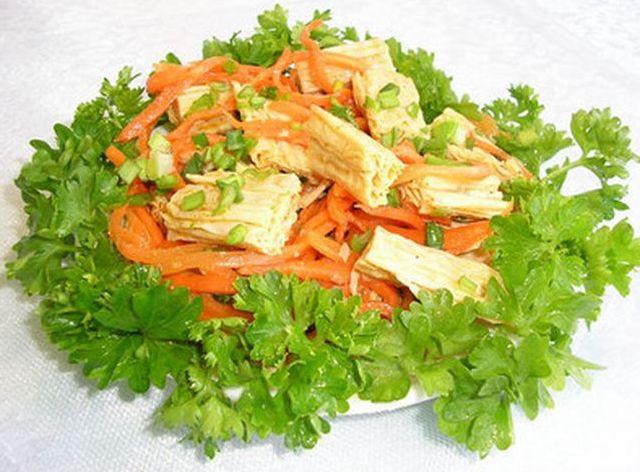 Салат с сухой спаржей рецепт