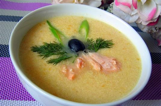 Рыбный суп из семги со сливками рецепт