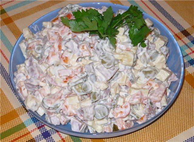 Зимний салат рецепт классический пошаговый рецепт на