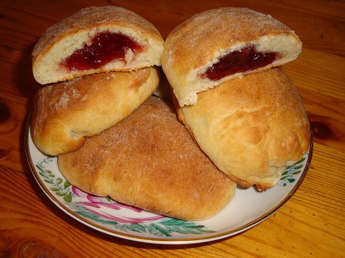Пирожки без дрожжей с повидлом в духовке пошаговый рецепт с фото
