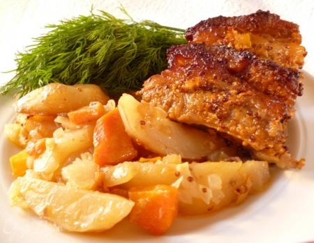 Рецепт жаркого со свиными ребрышками