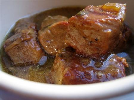 Рецепт свинины тушенной в пиве