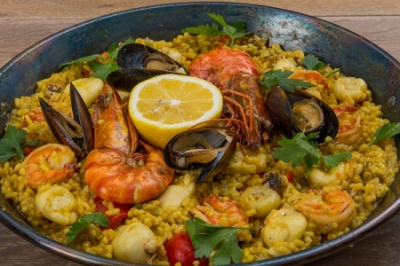 Рецепт паэльи из морепродуктов