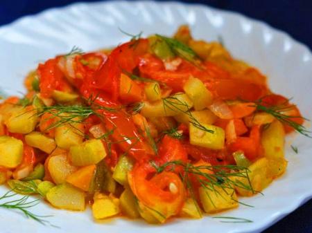 Рецепт - Овощное рагу