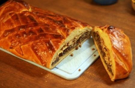 Рецепт - Пирог с грибами
