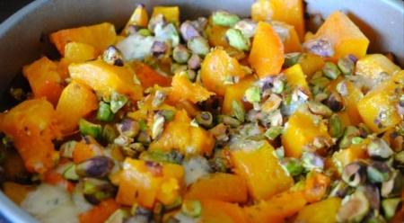 Рецепт - Тыквенный салат с голубым сыром