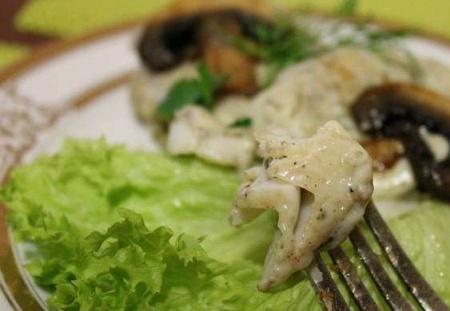 Рецепт - Треска с масляным соусом