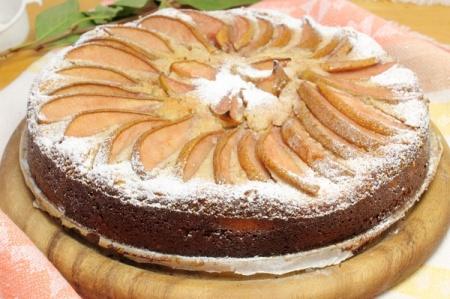 Рецепт - Творожный пирог с грушами
