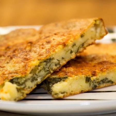 Рецепт лазаньи с с полентой и соусом чоризо