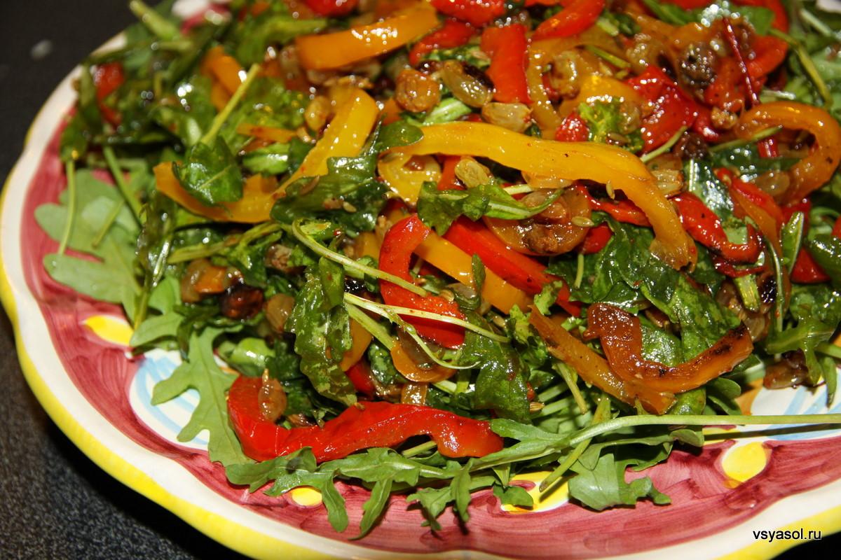 Рецепт салата из говядины с болгарским перцем с
