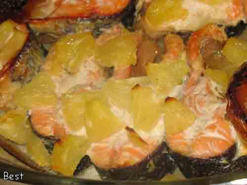 Рыба в духовке с ананасами рецепты