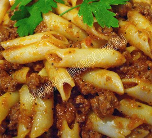 макароны по-флотски с отварным мясом рецепт с фото