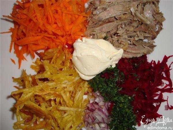 Салат картофель пай рецепт с