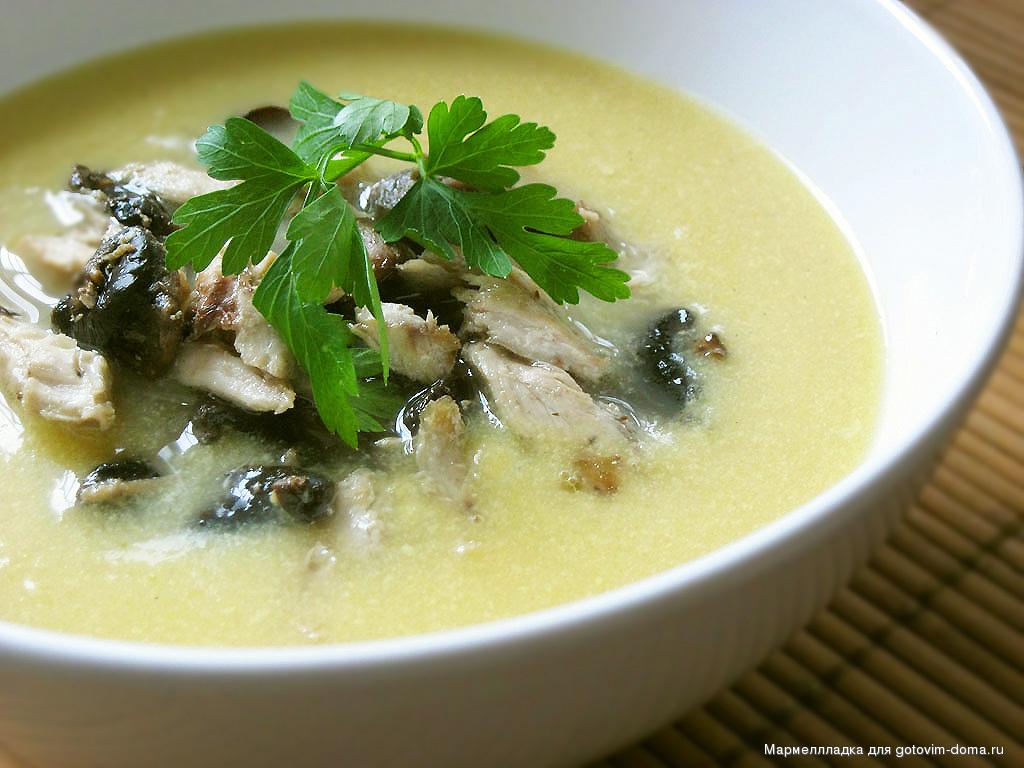 рецепт крем супа из куриных грудок