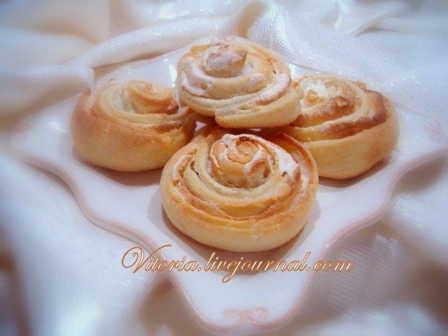 Печенье розочки с белковым кремом рецепт пошагово
