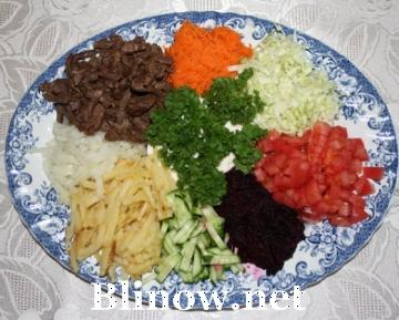 недорогие рецепты салатов с фото с сухариками
